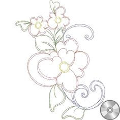 Fabric, machine embroidery designs, books and more by Loralie Harris Parchment Craft, Compact Disc, Machine Embroidery Designs, Bujo, Fabric Design, Daisy, Doodles, Drawings, Floral