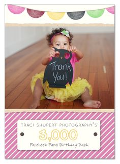 Traci Shupert Photography's 3,000 Facebook Birthday Bash Giveaway...lots of goodies from some of my favorites...Rachel Vanoven Photography, Fancy Fabrics & Props, Newbie Noggins, Woolywishes, Little Keira's Bows and so much more!  :)