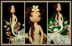 OOAK Art Doll by Ring A Rosie https://www.facebook.com/RingRosie?ref=hl Mermaid Jewel