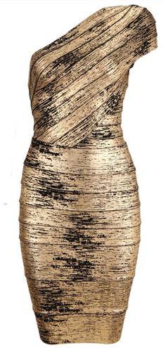 Metal Color Bandage Dress