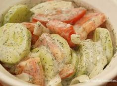 Made this for dinner tonight and it is delish. Goes great with grilled adobo chicken. Cucum­ber & Tomato Salad Recipe