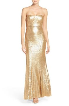 fd10fdb6939 Lulu s Strapless Sequin Mermaid Gown available at  Nordstrom Mermaid Gown