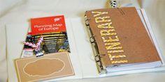 European Travel Binder, planner, organizer, digital scrapbook, small binder, vacation planning