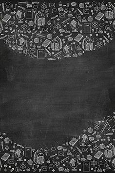 6726 School Supplies Chalkboard Backdrop