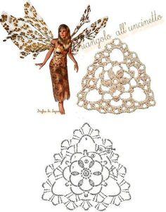Más Grannys Triángulo para tu colección | Otakulandia.es Crochet Bunting, Crochet Motifs, Wire Crochet, Crochet Diagram, Thread Crochet, Crochet Doilies, Crochet Flowers, Crochet Stitches, Triangle En Crochet