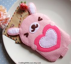 Usagi Love Lucky Cute Pink Rabbit iPhone by craftingwithlove