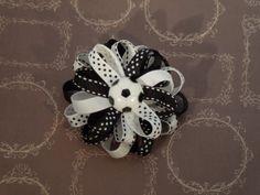 Soccer Hair Bow Black & White Hair Clip by SewCuteBoutiqueBow, $5.95