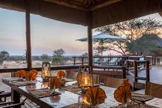 nThambo Tree Camp Klaserie Private Nature Reserve Located in the Klaserie Private Nature Reserve, nThambo Tree Camp is a small and intimate camp. It features a thatched lounge area with bar and a splash pool. The accommodation consist of chalets, which are raised on wooden stilts.