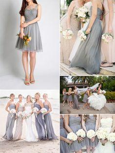 trending tulle gray bridesmaid dresses ideas for wedding 2015