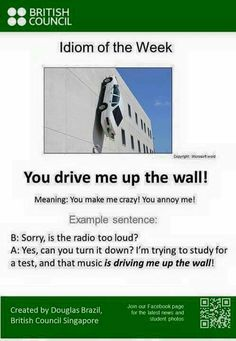 You drive me up the wall