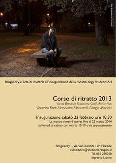 mostra degli studenti del corso di ritratto _ inaugurazione sabato 22 febbraio ore 18,30 fsmgallery Firenze Ingresso Libero