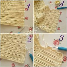 Best 12 IG ~ ~ crochet yoke for girl's dress ~ finished yoke before joining the underarms – SkillOfKing. Gilet Crochet, Crochet Yoke, Crochet Vest Pattern, Crochet Girls, Crochet Baby Booties, Diy Crochet, Knitting Patterns, Crochet Patterns, Crochet Hats