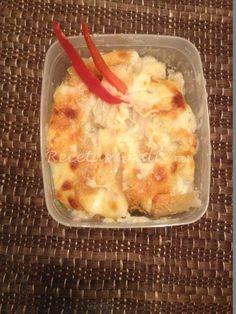 Receta de  Macarrones gratinados al horno con queso