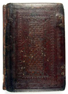 Inc 117 Coberta anterior | CRAI UB Mancinelli, Antonio. Opuscula. Venècia : Simon Bevilaqua, 5 abril 1494