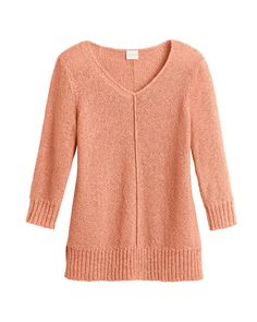 Miranda V-Neck Sweater- I liked the lunar tide blue one so much I ordered it in gingered peach.