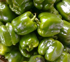 shiny green peppers