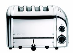 Dualit Vario Bread Toaster - Chrome at Kitchen Universe. The Dualit Vario toaster combines simplicity and sophistication perfectly. Designed for commercial use the toaster is hand assembled in England and built to last. Dualit Toaster, 4 Slot Toaster, Four Slice Toaster, Bread Toaster, Toaster Ovens, Retro Toaster, Small Kitchen Appliances, Kitchen Tools, Houses