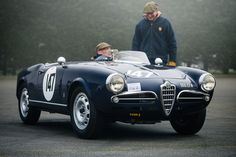 https://flic.kr/p/Sb4kcC | Christoper Mann - 1956 Alfa Romeo Giulietta Spyder at the 2017 Silverstone Pomeroy Trophy (Photo 1) | In a moment of madness, I decided to brave the winter weather and head south to Silverstone to check out the VSCC annual season opener, the Pomeroy Trophy.  This beautiful Alfa Romeo made the trip worthwhile in my eyes, and proved to be elusive for most of the morning after this early spot, until it turned up in the paddock later on (although wasn't parked…