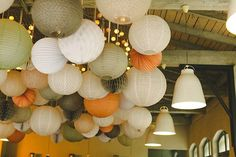 weddingindresden Ein bisschen Farbe - im Spätsommer - Herbst für Nancy und Tim und Ihre Gäste. . . . #wedding #weddingflowers #centerpiece #pastel #coral #apricot #gold #hochzeitslocationdresden #weddingdecor #realwedding #autumnwedding #blush #goodmoods #pompom #lampion #lantern #lanterneschinoises #alveoles #light #lightstring #decorate #tasteful #delightful #paperlantern #partydecor #wedding2016 #goodmoods #lampions #wabenball . . Photo #ankewoltenthom  Location @elementsdeliundrestaurant… Decoration, Table Lamp, Ceiling Lights, Ciel, Lighting, Halloween, Instagram, Wedding Decor, Home Decor