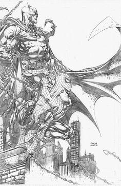 Batman and Spider Man by David Finch