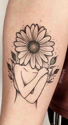 Sunflower tattoo delicate female: female tattoo tattoos impresionantes delicate arm small rib written back shoulder flower drawing animals watercolor key ideas Mini Tattoos, Body Art Tattoos, Small Tattoos, Sleeve Tattoos, Tatoos, Tattoo Und Piercing, Subtle Tattoos, Sunflower Tattoos, Inspiration Tattoos