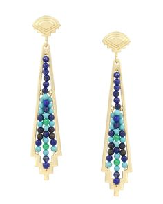 Zane Earrings in Cool - Kendra Scott Jewelry - Check out the 'Color BAR' tab, where you can create your own in any color combination you want!