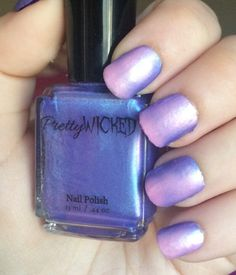 Blue/Pink Thermal Nail Polish, Persephone Polish, Blue Thermal Nail Polish, Pink Thermal Nail Polish, Color Changing Nail Polish by PrettyWickedCosmetic on Etsy https://www.etsy.com/listing/286475255/bluepink-thermal-nail-polish-persephone