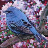 """Indigo Bunting"" - Bird Artwork by Johnathan Harris"