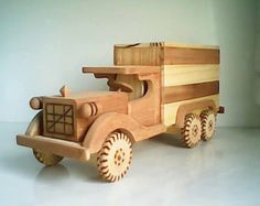 Action toy moving truck made in Brazil | handmade boys girls play wood decor kids