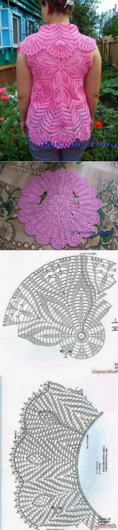 59 Ideas For Crochet Lace Circle Pattern Crochet Vest Pattern, Crochet Lace Edging, Crochet Coat, Crochet Blouse, Crochet Scarves, Crochet Shawl, Crochet Clothes, Crochet Flowers, Knitting Patterns