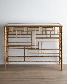 "Brass ""Bamboo"" Console"