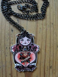Russian Doll Love Necklace by wengergirl on Etsy, $15.00