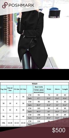 Wool blend wrap jacket coat Wool blend S-0, M-2, L-4, XL-6,XXL-8, XXXL-10 Jackets & Coats Capes