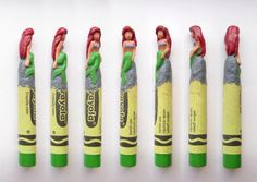 Artist Carves Crayons Into Crazy Creative Sculptures
