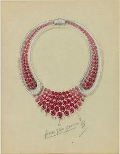 Van Cleef & Arpels & René-Sim Lacaze, Study for an important necklace, 1939. © Sotheby's