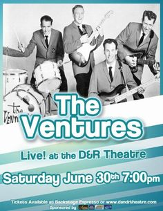 The Ventures The Ventures, Concerts, Theatre, Memes, Movie Posters, Film Poster, Theater, Popcorn Posters, Festivals