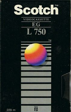 Scotch Videocassette EG-L750 #video #packaging #design #80s