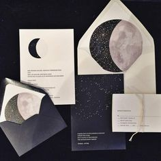 """1,386 Likes, 55 Comments - Loverly™ (@loverly) on Instagram: """"Loving these invites to the moon, stars and back!! Image via @bethhelmsetter ✨ #weddinginvitations…"""""""