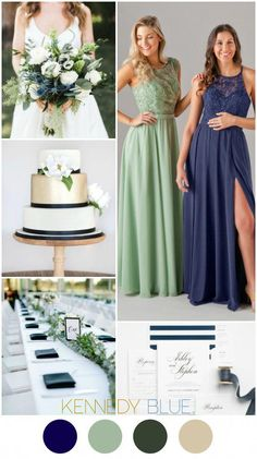 A Navy Blue Sage Green wedding color palette Kennedy Blue Bridesmaid Dresses Jade in Sage and Madeline in Navy Jade Bridesmaid Dresses, Blue Bridesmaids, Wedding Dresses, Bridesmaid Color, Wedding Mandap, Bridesmaid Ideas, Wedding Stage, Wedding Receptions, Perfect Wedding