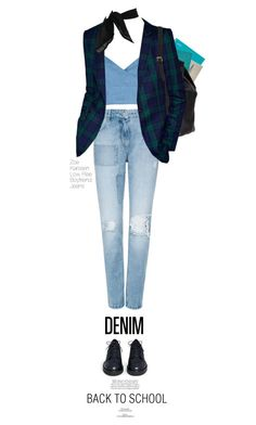 """""""Back to School: Denim Guide"""" by juhh ❤ liked on Polyvore featuring Thomaspaul, Dolce&Gabbana, Boohoo, Zoe Karssen, Ash, vintage and country"""