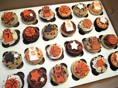 Basketball Shirts Ideas - Basketball Videos Kids - - Rival Basketball Posters - Basketball Posters For Boyfriend - Spalding Basketball Drawings Cupcakes Fondant, Fondant Toppers, Cupcake Toppers, Cupcake Cakes, Cupcake Ideas, Cupcake Recipes, Basketball Cupcakes, Basketball Party, Basketball Videos
