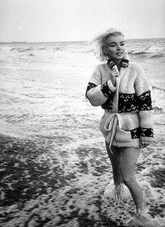 "7-13-1962 Santa Monica California. ""Mexican Jacket"" photo shoot by photographer George Barris of Marilyn Monroe. 010/1. Image 1-89"
