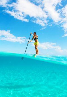 SUP in Tahiti. Ph: Tim McKenna