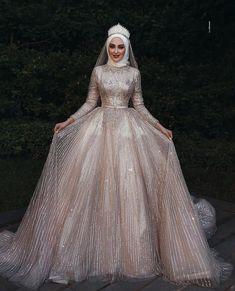 It's YiiYa Wedding Dress O-neck Long Sleeve Bridal Dresses Elegant Plus Size Robe De Mariee Muslim Wedding Ball Gowns - Fashion Muslim Wedding Gown, Hijabi Wedding, Arabic Wedding Dresses, Muslimah Wedding Dress, Arab Wedding, Muslim Wedding Dresses, Bridal Dresses, Elegant Wedding, Gothic Wedding