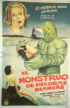 The Monster of Piedras Blancas Mexican poster