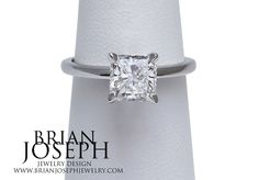 Check out this simple yet beautiful #radiant cut engagement ring!  A total classic!