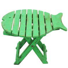 Silla taburete en forma de pez - verde