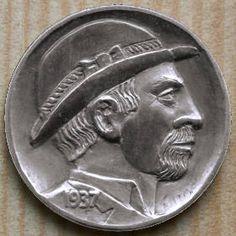 RON LANDIS HOBO NICKEL - 2005 HOBO - 1937 BUFFALO PROFILE
