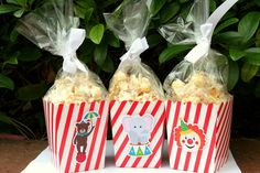 Circus Carnival Party Assorted Snack Boxes Favor Boxes- Set of 12. $12.00, via Etsy.