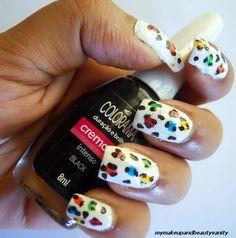 Neon Leopard Nail Art Tutorial